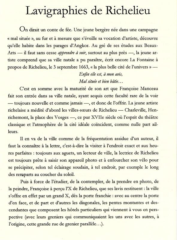 p.1 a Préface Lavigraphies de Richelieu